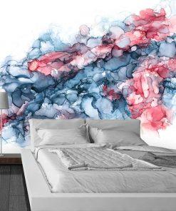 dekoracja do sypialni z plamami