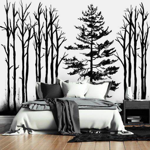 tapeta kontury drzew