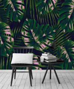 fototapeta ciemnozielone liście