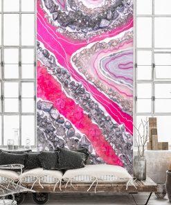 tapeta różowa jako dekoracja