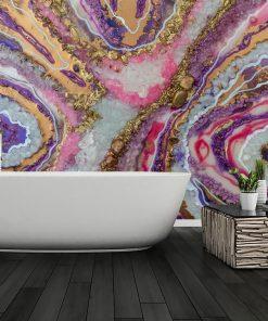 tapeta do łazienki jako dekoracja