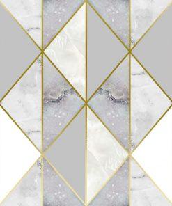 dekoracja z marmurowym trójkątem
