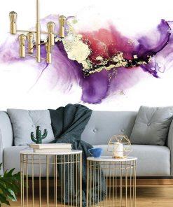 Abstrakcyjna fototapeta w chłodnych kolorach fioletu