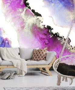 Fototapeta z motywem akwarelowej abstrakcji do salonu