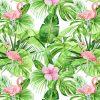 Papierowa dekoracja z zielonymi li艣膰mi