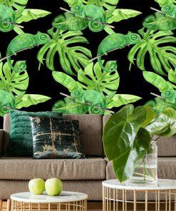 fototapeta z motywem zielonych roślin