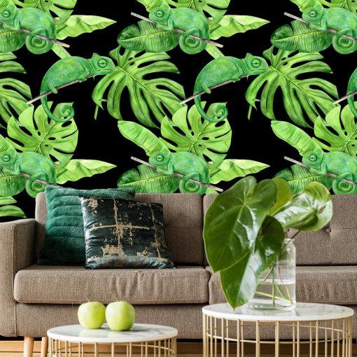 fototapeta z motywem zielonych ro艣lin