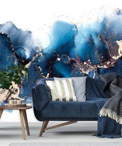 pokój dekorowany abstrakcją