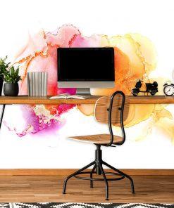 różowa dekoracja do biura