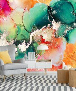 Foto-tapeta z pastelowymi plamami