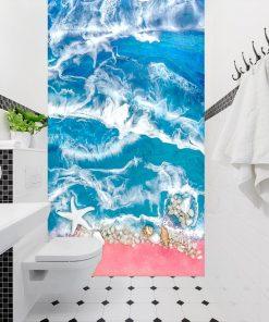 Fototapeta do łazienki kompozycja malarska sea