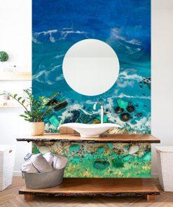 Dekoracja do łazienki fototapeta sztuka żywiczna motyw morza