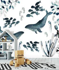 Fototapeta życie podwodne do pokoju dziecka