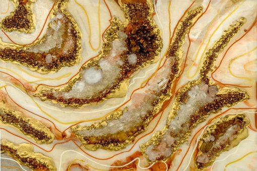 fototapeta reprodukcja obrazu żywicznego abstrakcja z kamieniami
