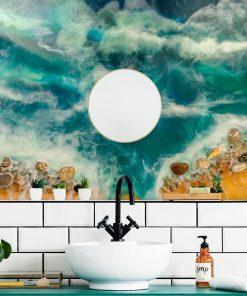 Fototapeta do łazienki resin sea żywiczna sztuka