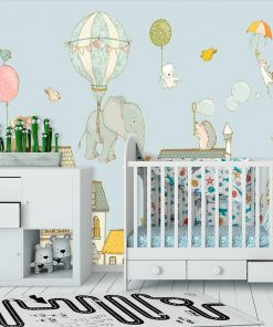 Fototapeta do pokoju dziecka z motywem latającego słonika