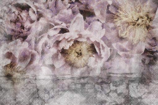 Tapeta - Kwiaty i orientalny wzór