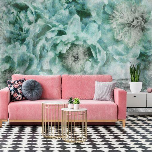 Foto-tapeta botaniczna z kwiatami - Wzór orientalny