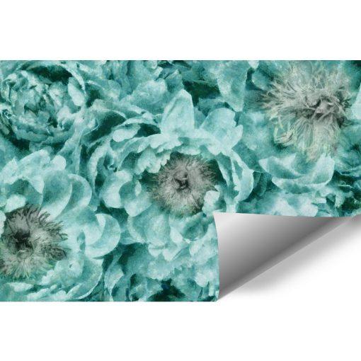 Fototapeta - Turkusowe kwiaty do sypialni