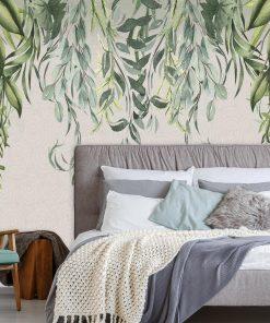 Botaniczna fototapeta do sypialni