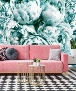 Foto-tapeta z kwiatami do salonu