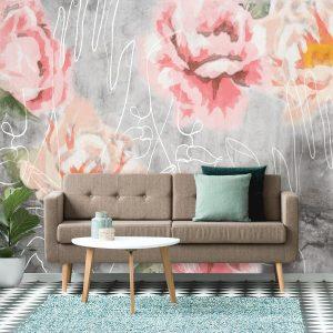 Fototapeta z różami do pokoju