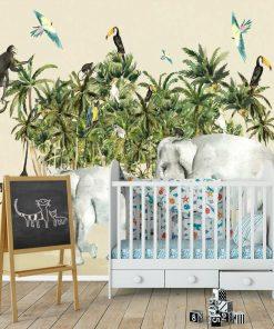 kolorowa dżungla- fototapeta dla dzieci