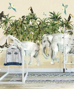 wesołe zwierzęta na foto-tapecie do pokoju dziecka