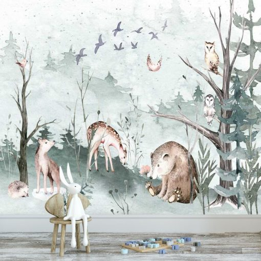 Fototapeta z lasem dla dziewczynki