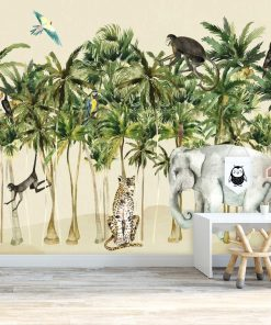 foto-tapeta dla dzieci- tropikalne zwierzęta