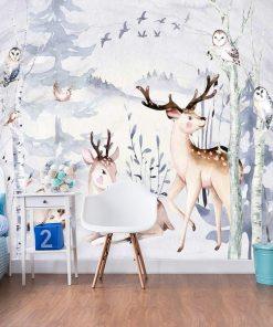 zwierzęta leśne na foto-tapecie dla dzieci