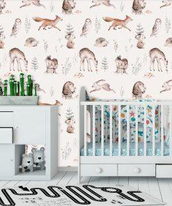 Foto-tapeta dla dzieci - Le艣ne zwierz臋ta