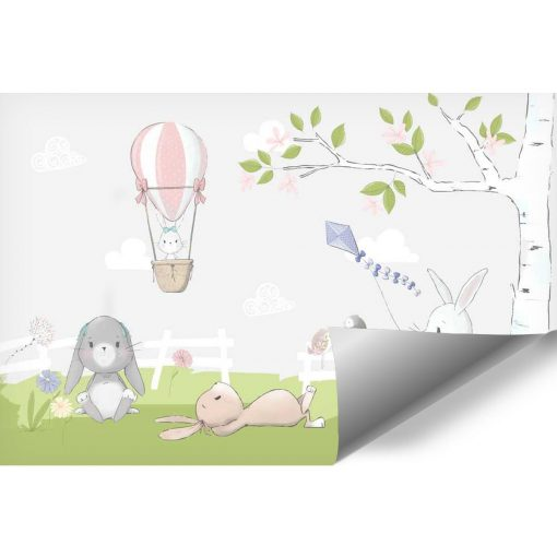 bajkowa foto-tapeta do pokoju dziecka - zaj膮czki