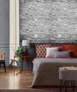 Tapeta z surową cegłą