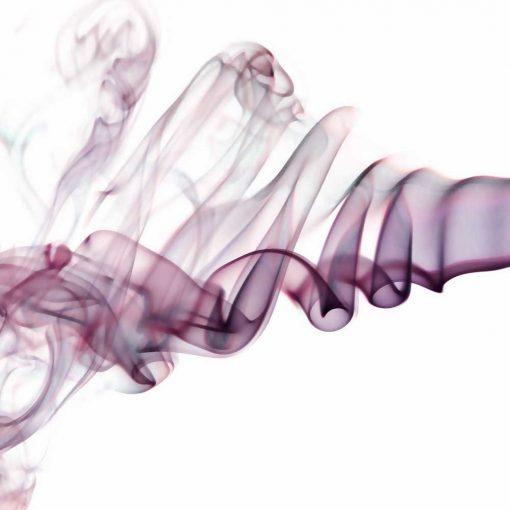 Fototapeta z fioletowym dymem