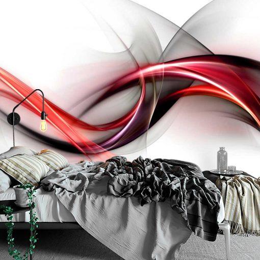 Tapeta z neonow膮 abstrakcj膮