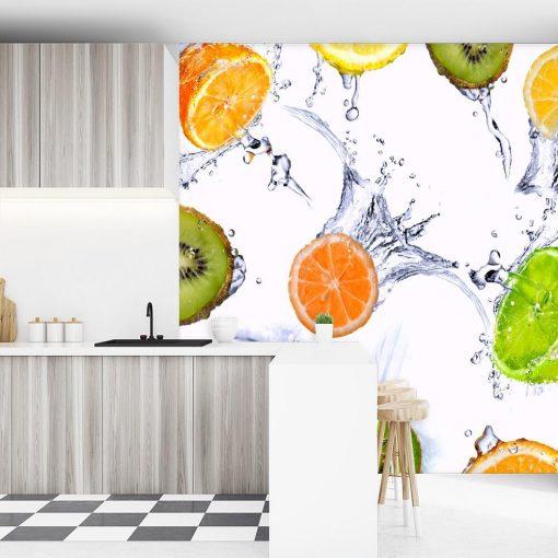 Kolorowe owoce na tapecie