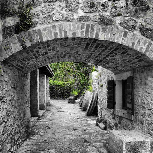 Tapeta z kamienn膮 uliczk膮