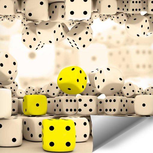 Żółte kości do gry - tapety