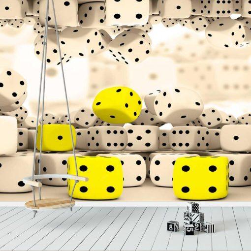 Dziecięca tapeta z kośćmi do gry