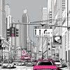 Tapeta z animacja ulicy