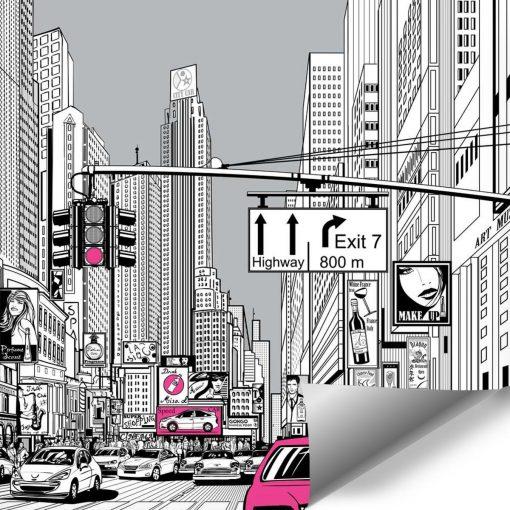 Tapeta z animacja miasta