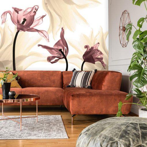 Kolorowe tulipany na tapecie