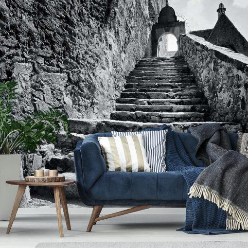 Tapeta z kamiennymi schodami