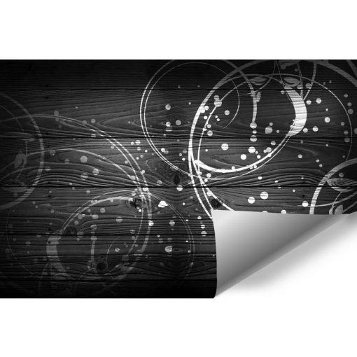Ciemne drewno - tapeta