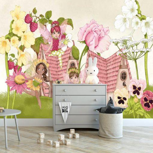 Foto-tapeta kwiatowe wr贸偶ki i kwiaty
