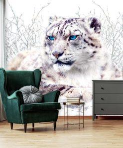Fototapeta z białym gepardem