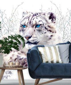 Tapeta z białym gepardem