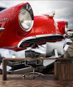 Czerwony samochód - tapeta