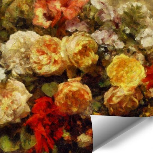 Tapeta kwiatowe malarstwo
